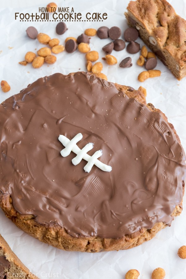 How to Make a Football Cookie Cake