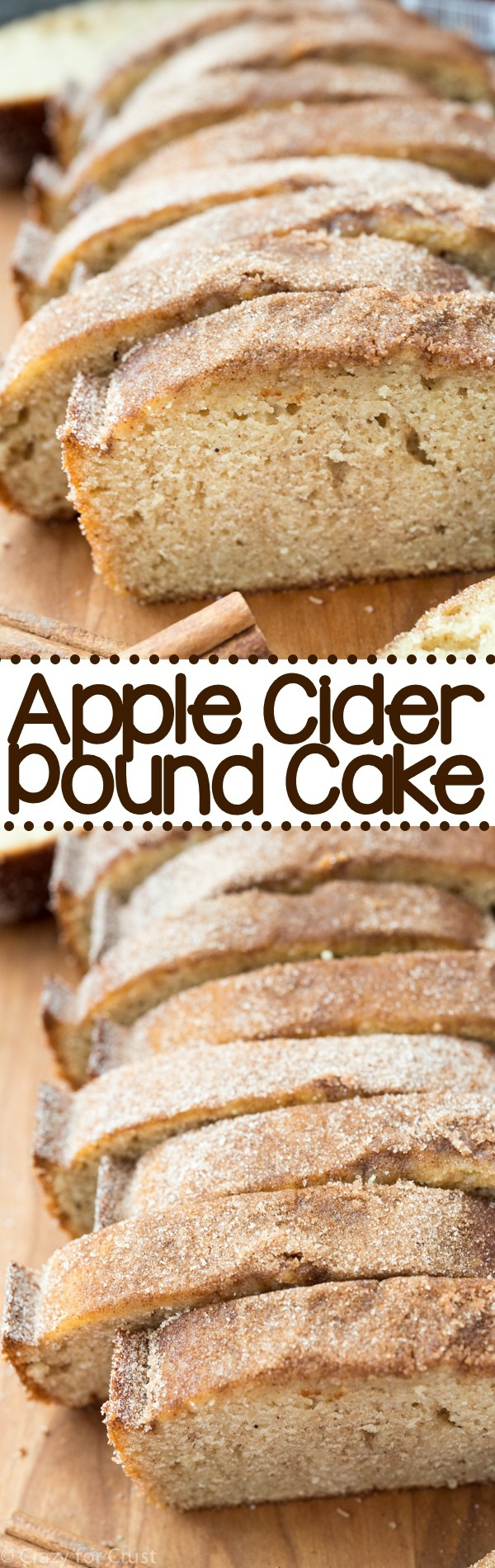 Apple Cider Pound Cake - an easy pound cake that tastes like an apple cider doughnut!