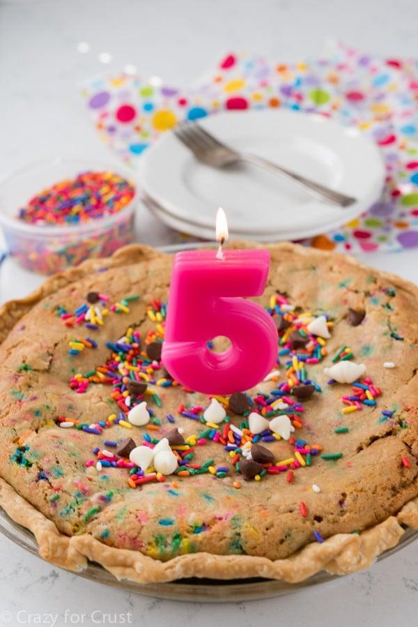 Cake Batter Cookie Pie