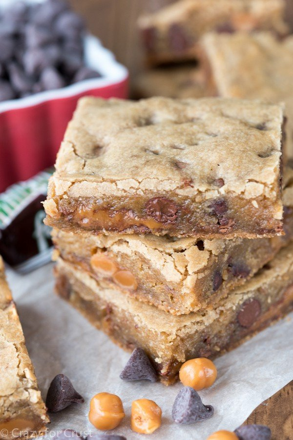 Easy Caramel Milky Way Blondies Recipe