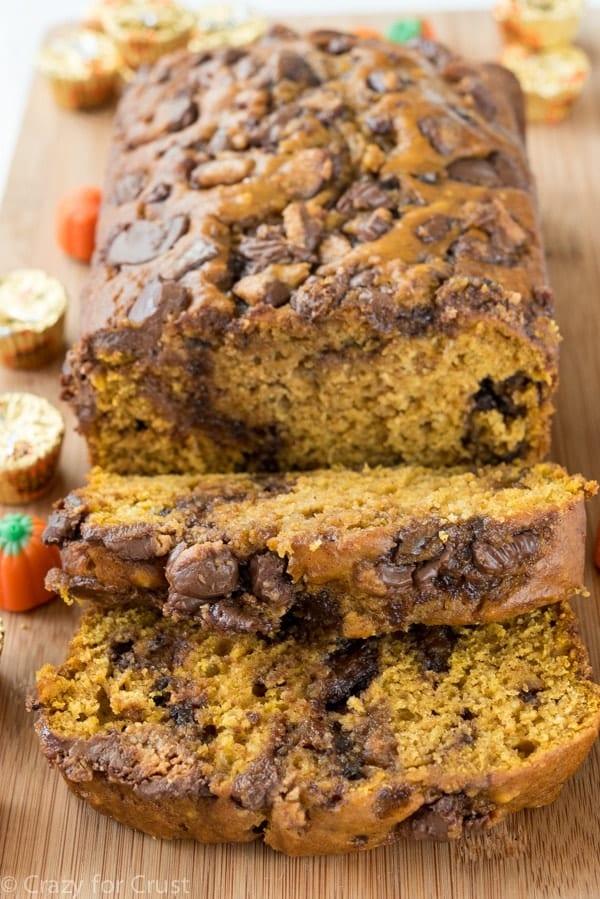 Peanut Butter Cup Pumpkin Bread Recipe