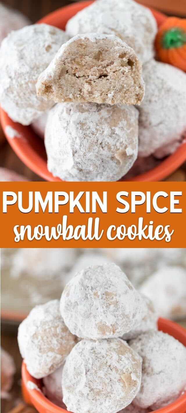 bowl of pumpkin spice snowballs