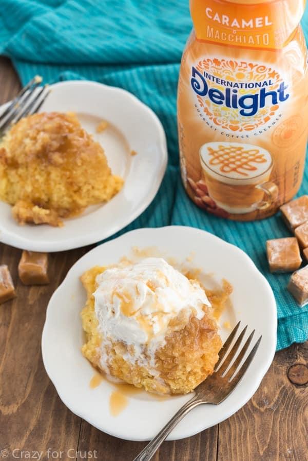 Slow Cooker Caramel Cake Recipe using International Delight