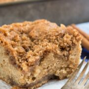 Close up of Sweet Potato Crumb Cake