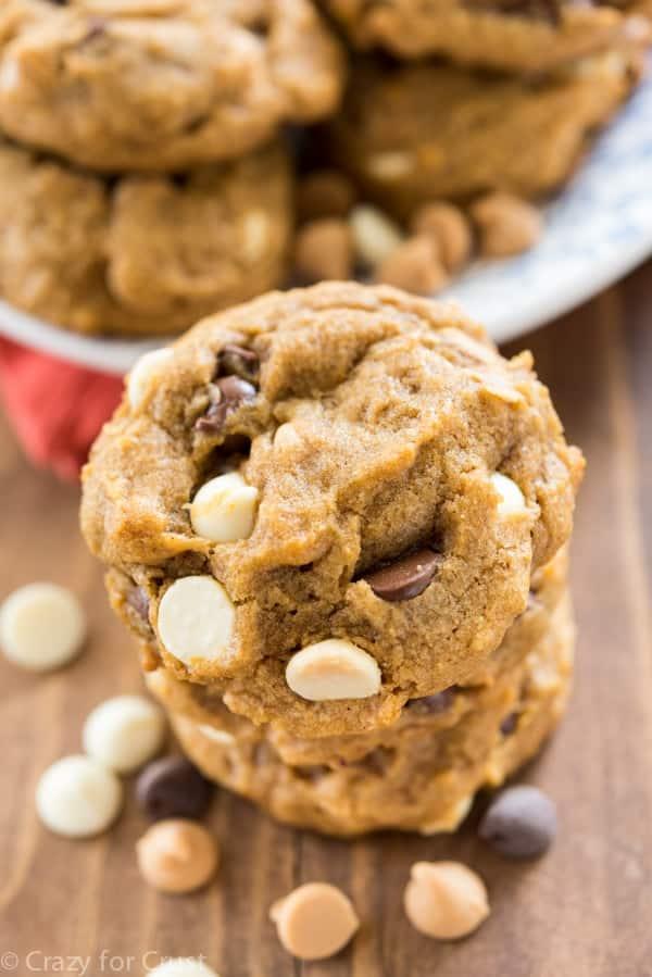 Easy Triple Chip Pumpkin Cookies Recipe
