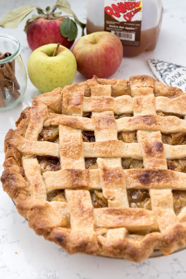 This Apple Cider Pie is the BEST apple pie I've ever eaten!