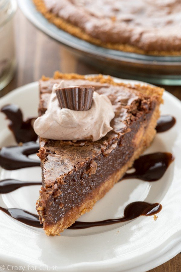 Chocolate Chess Pie with graham cracker crust - Crazy for Crust