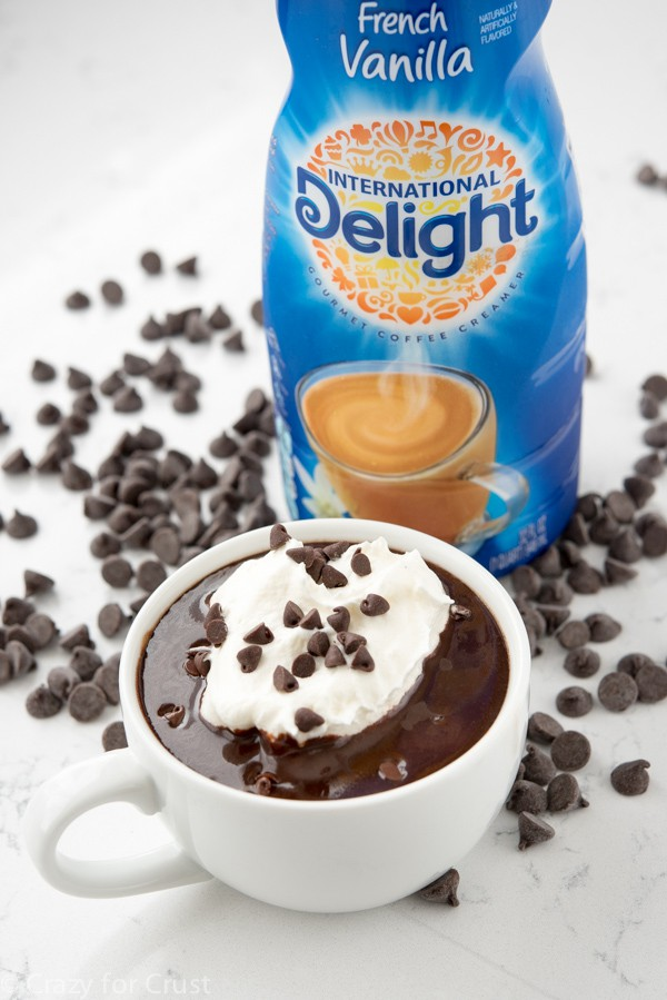 Easy Drinking Chocolate Recipe - the best hot chocolate! Made with International Delight Coffee Creamer.