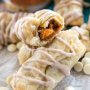 Stack of Easy White Chocolate Pumpkin Croissants
