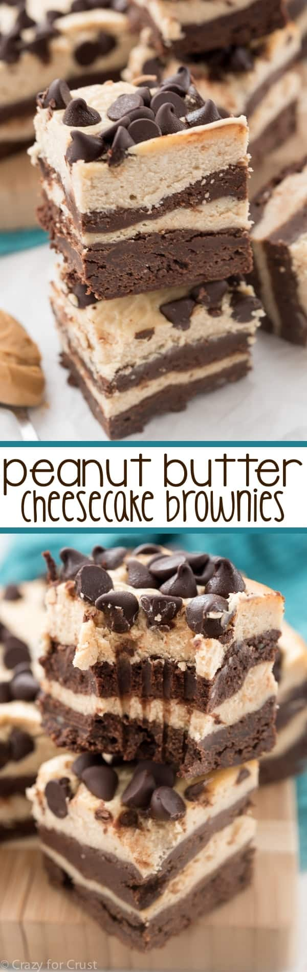 Layer Peanut Butter Cheesecake Brownies - this EPIC dessert is ...
