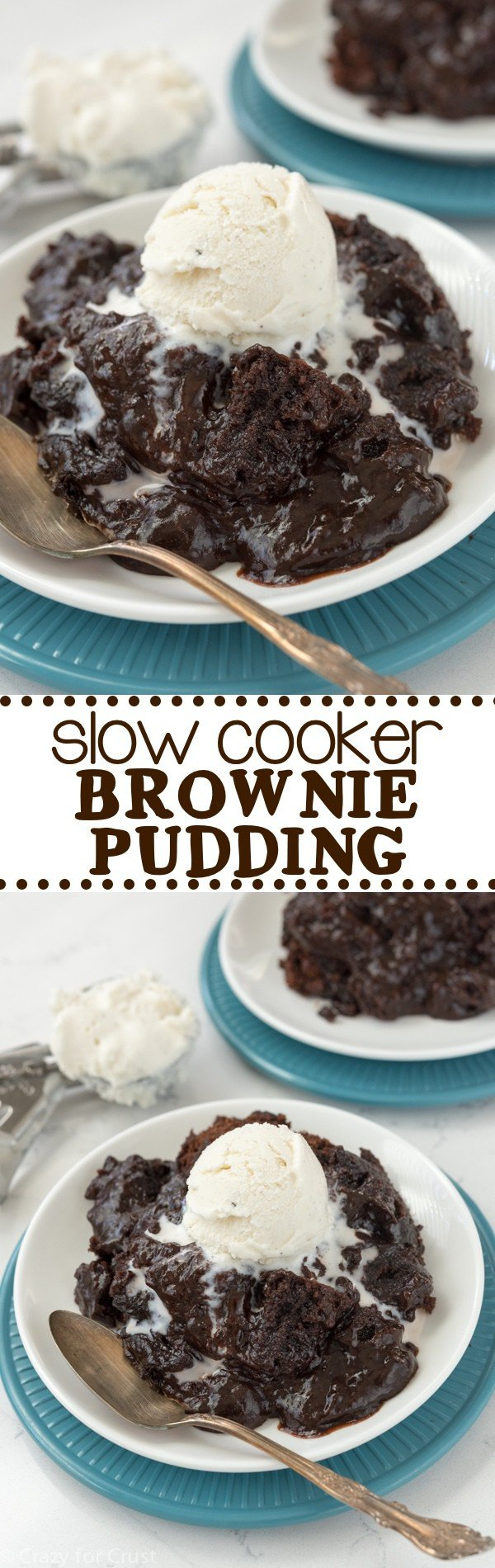 Slow Cooker Brownie Pudding - this easy recipe is so gooey and ...