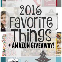 2016 Favorite Things Giveaway