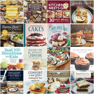 Collage of 16 Cookbook covers
