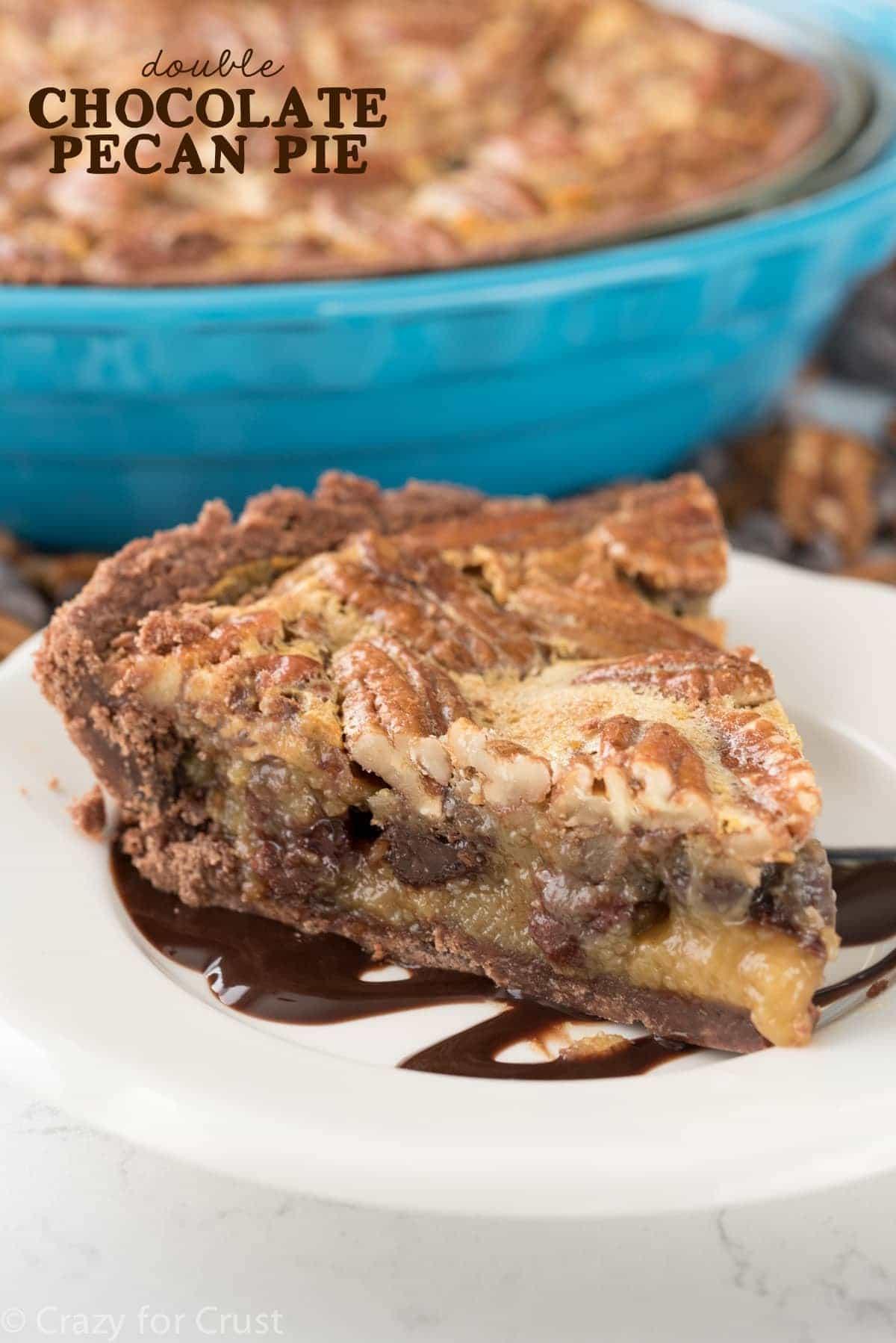 Double Pecan Chocolate Pie