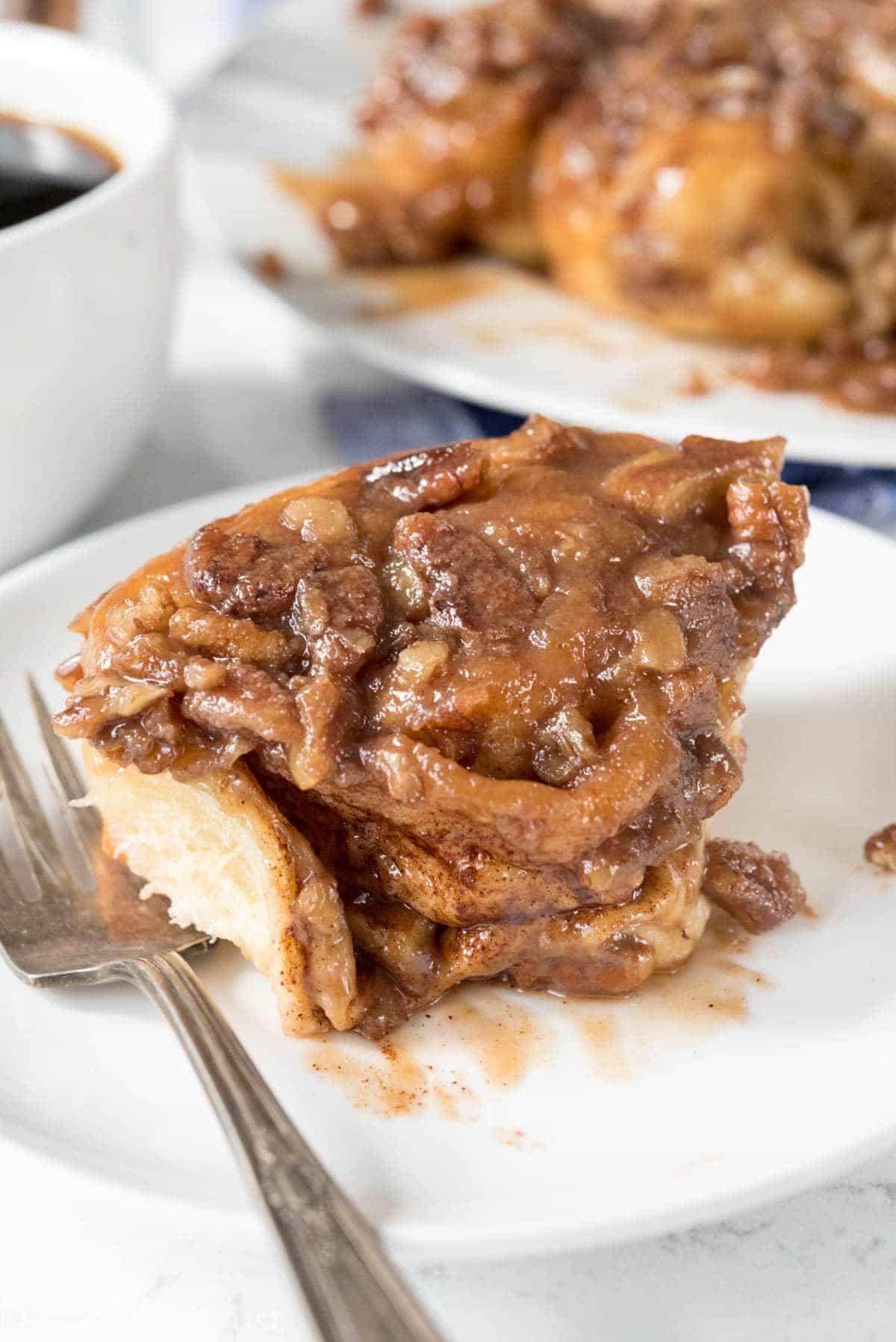 Easy Caramel Pecan Rolls recipe - like sticky buns but easier!