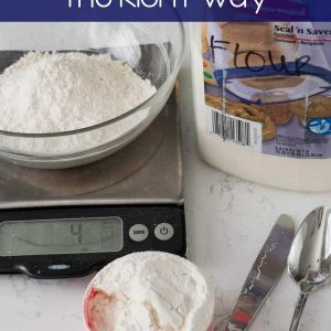 There is a right way and a wrong way to measure flour. Learn how to measure flour the right way for perfect recipes every time!