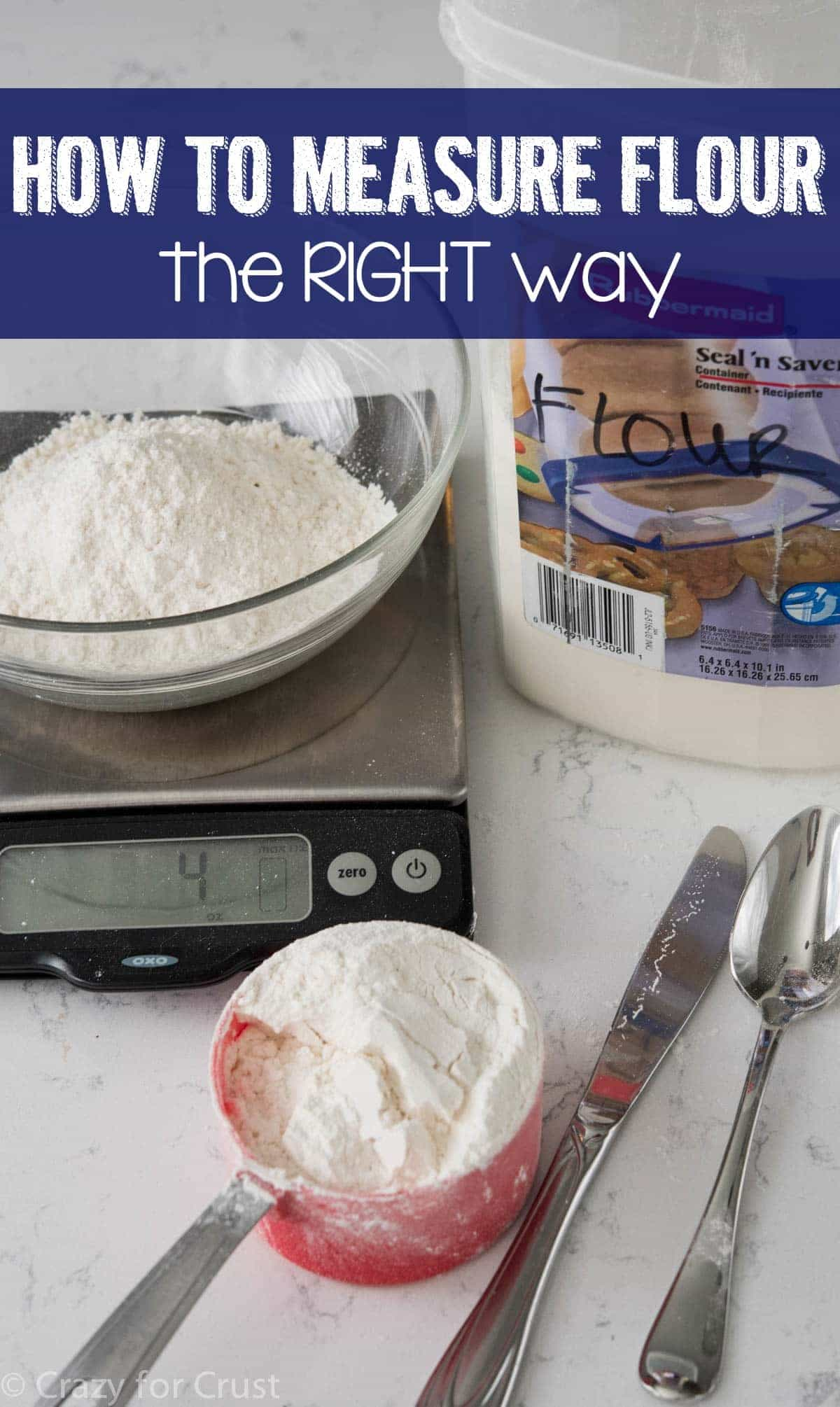 How to measure flour for perfect recipes every time. The secret: SPOON don't SCOOP!