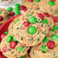 Santa's Favorite Cookies on a red plate