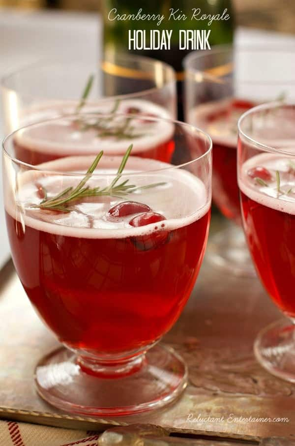 Cranberry Kir Royale Cocktail