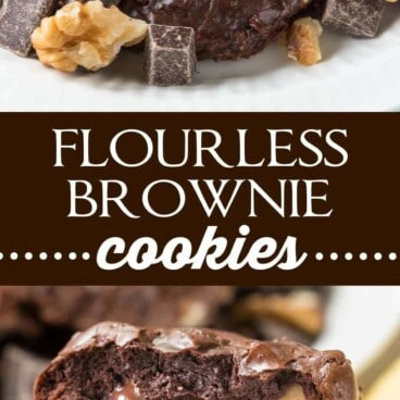 Collage of Flourless Brownie Cookies