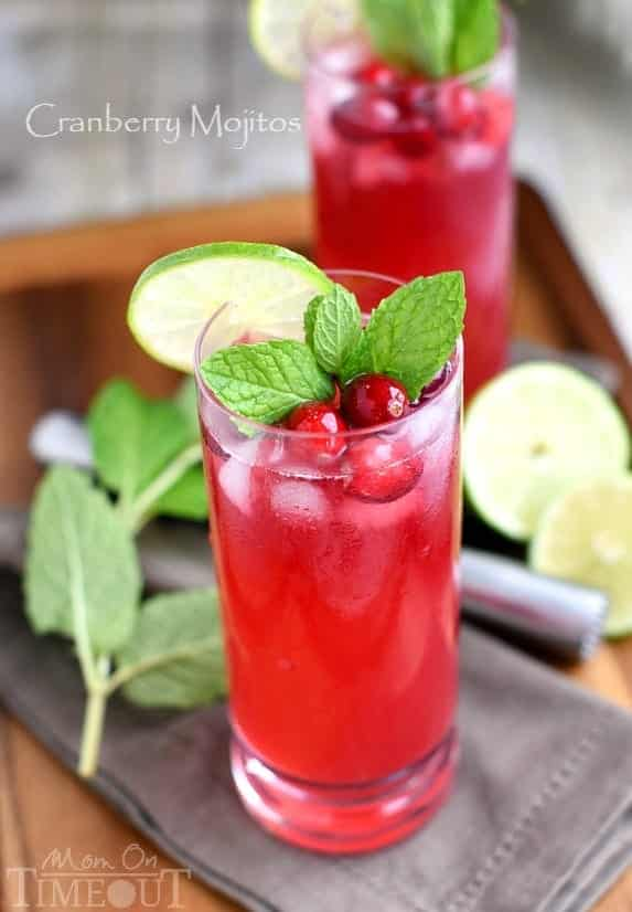 cranberry-mojitos