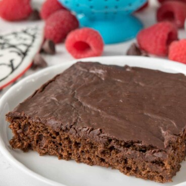 Better Chocolate Sheet Cake is a skinnier version of normal chocolate sheet cake.