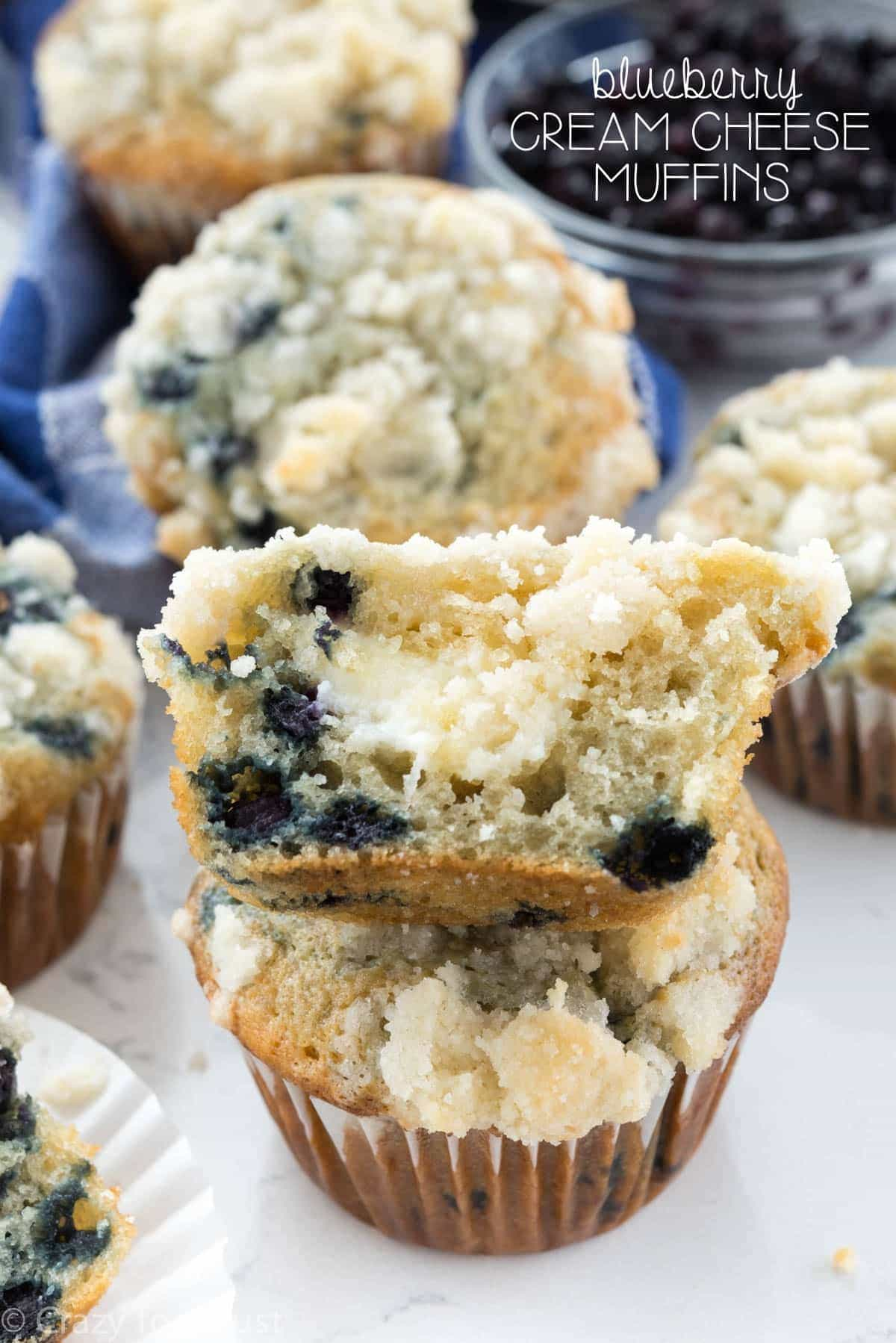 Blueberry Cream Cheese Muffins - this is the PERFECT blueberry muffin ...