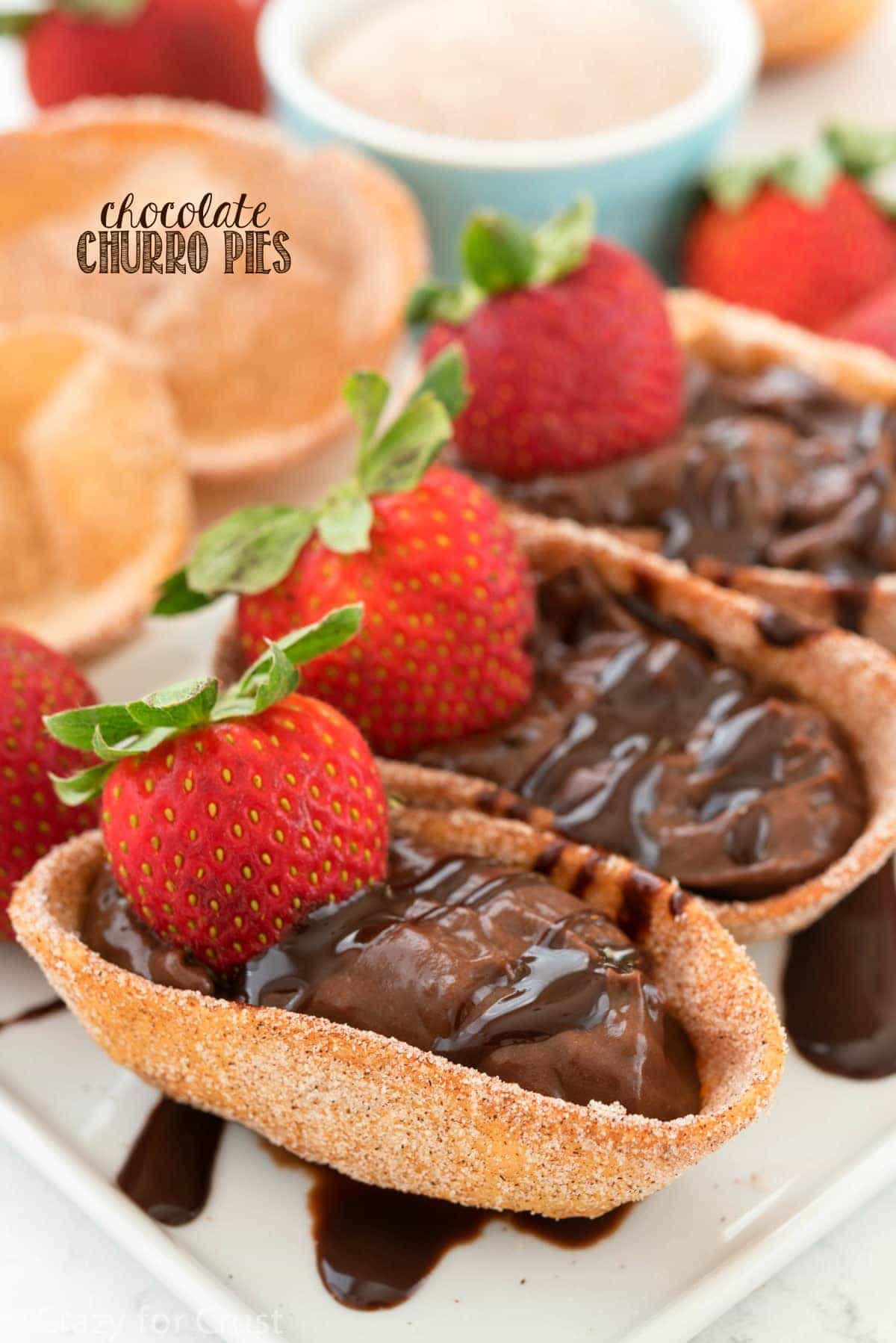 Chocolate Churro Pies