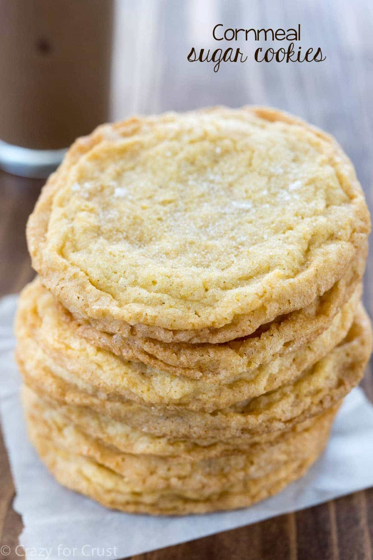 Cornmeal Sugar Cookies - an easy sugar cookie recipe with a little added crunch from cornmeal!