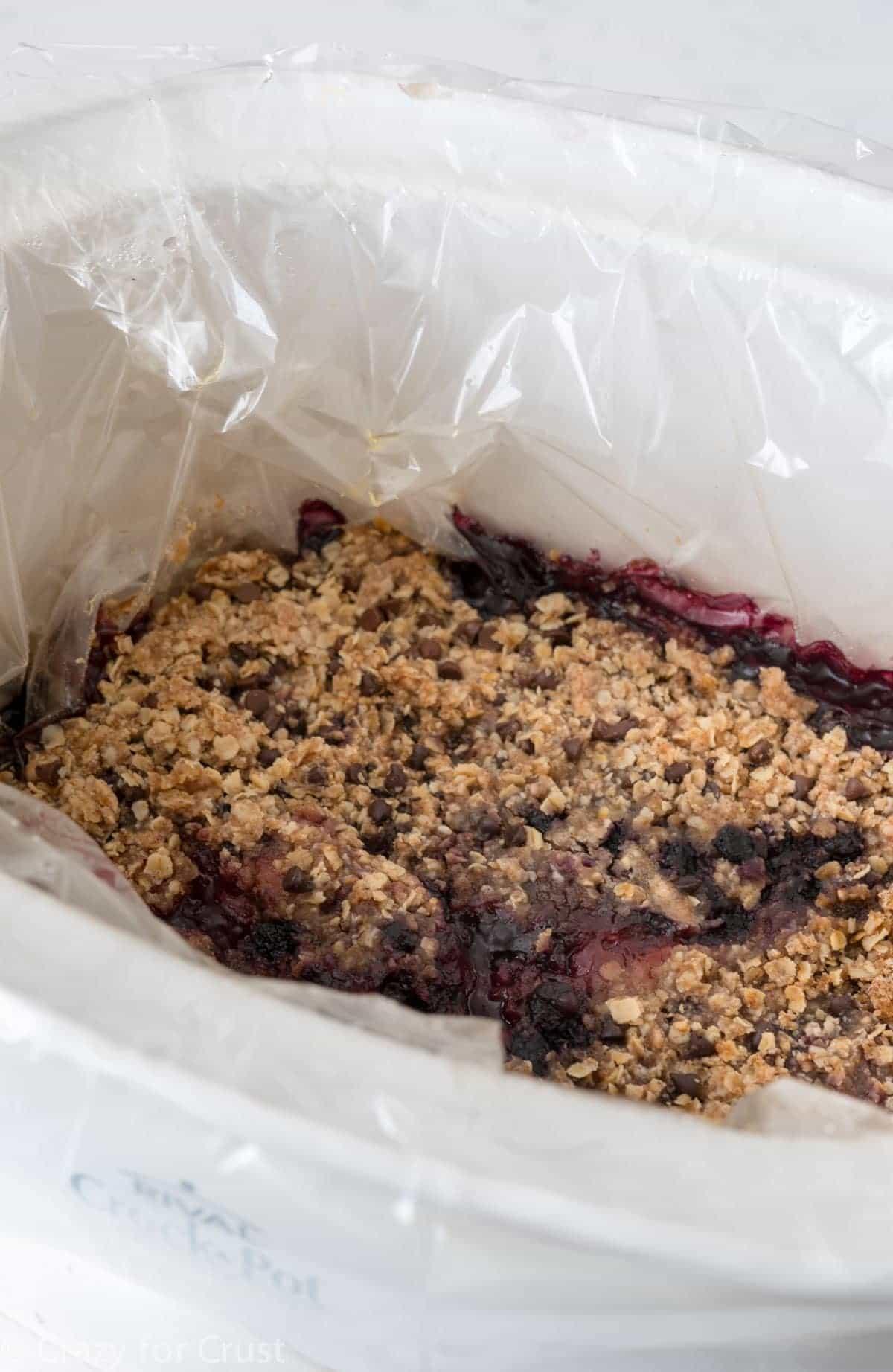 Crockpot Berry Crumble Recipe