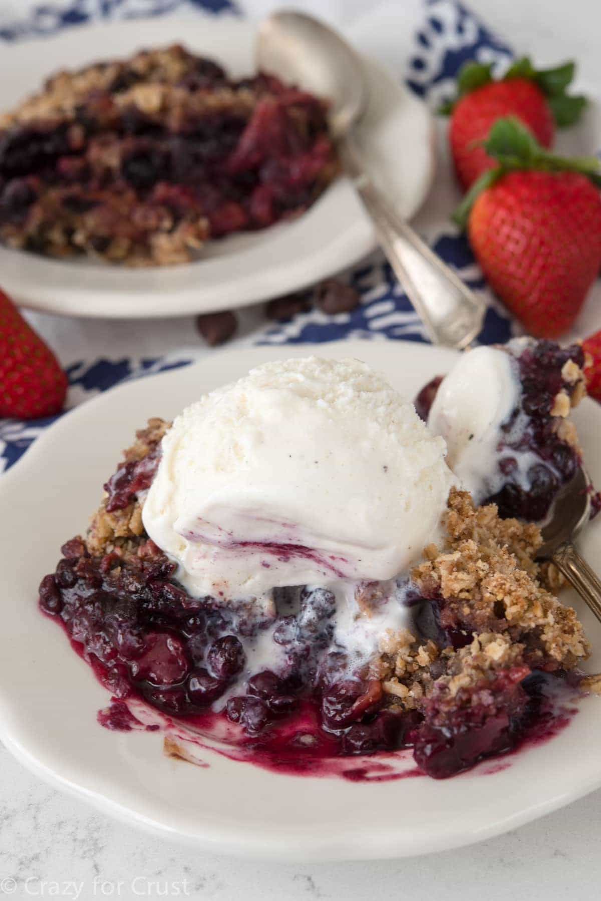 EASY Crockpot Berry Crumble Recipe
