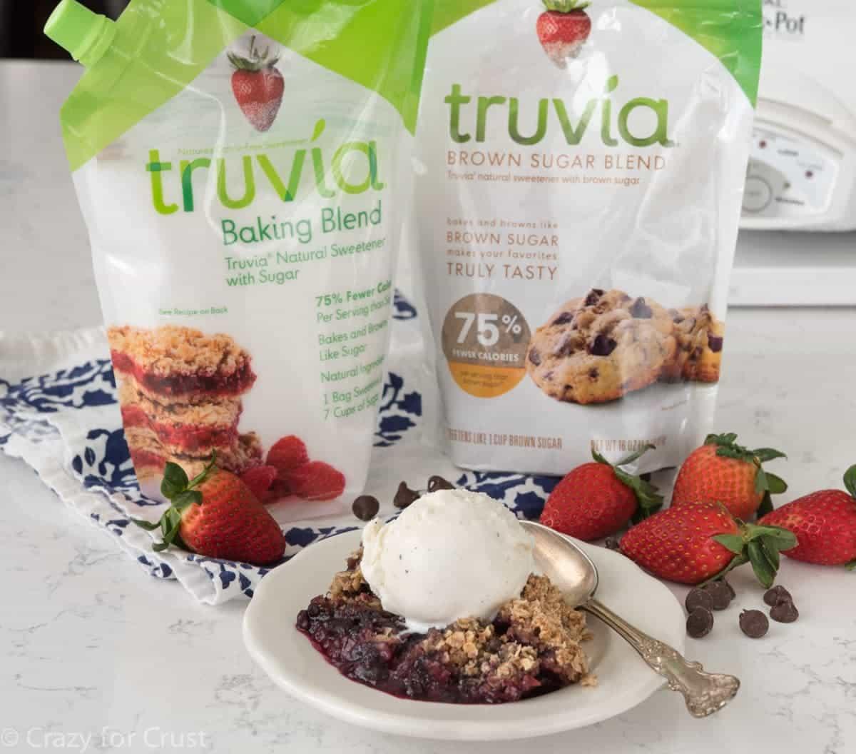 Crockpot Berry Crumble using Truvia