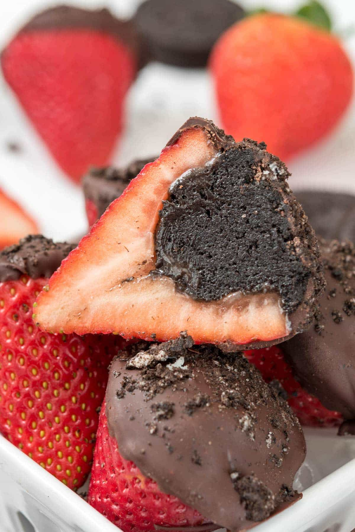 Oreo Truffle Dipped Strawberries