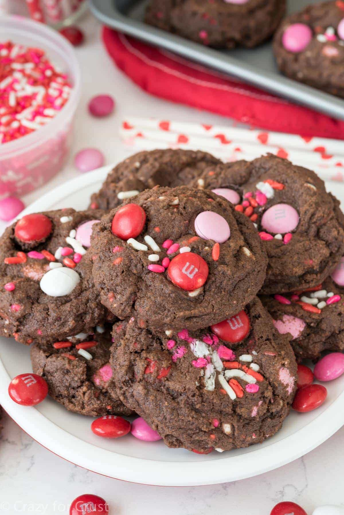 Very Valentine Pudding Cookies This Easy Chocolate Cookie Recipe Full Of Chocolate Pudding For A