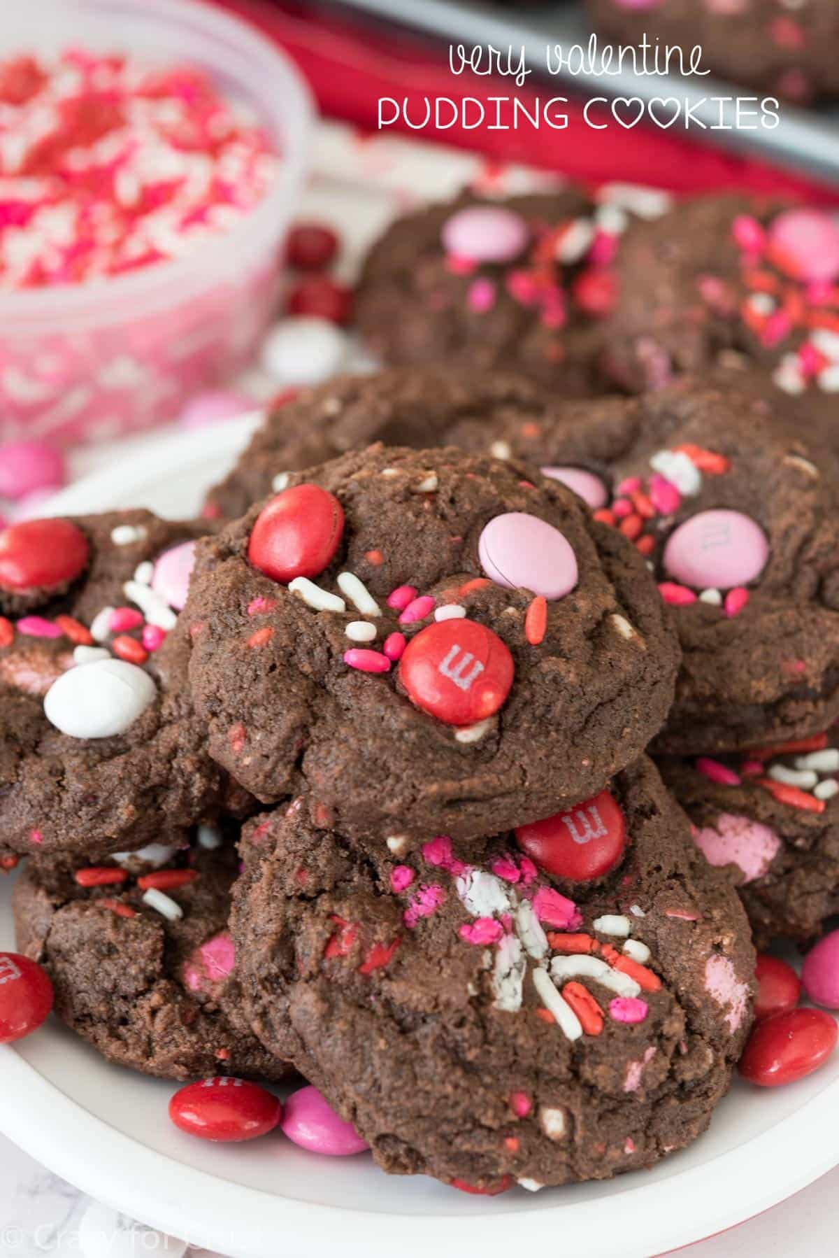 Very Valentine Pudding Cookies Crazy For Crust
