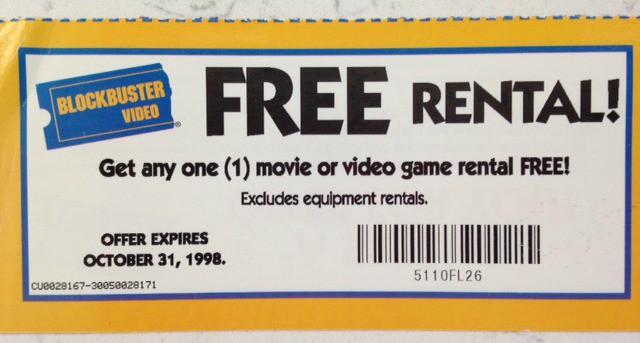 blockbuster coupon