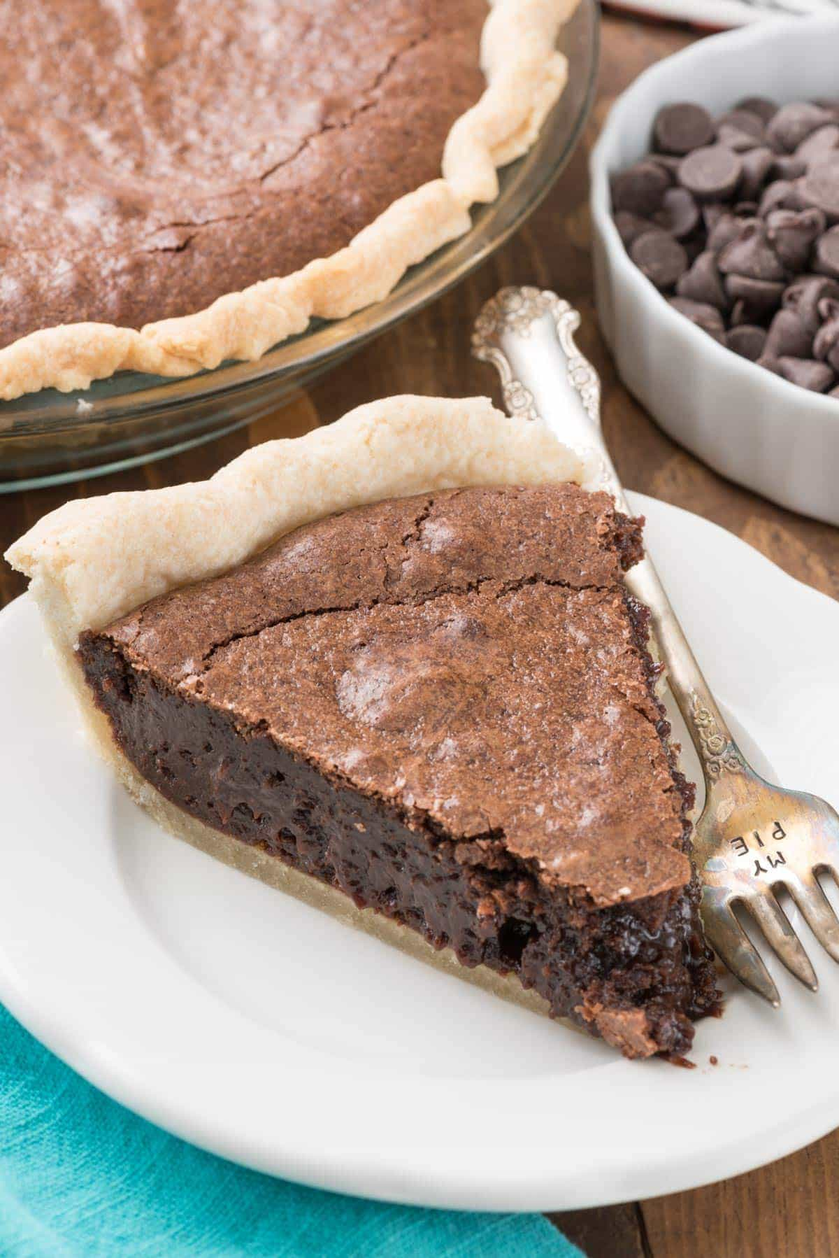Best Brownie Pie Recipe that's completely from scratch!