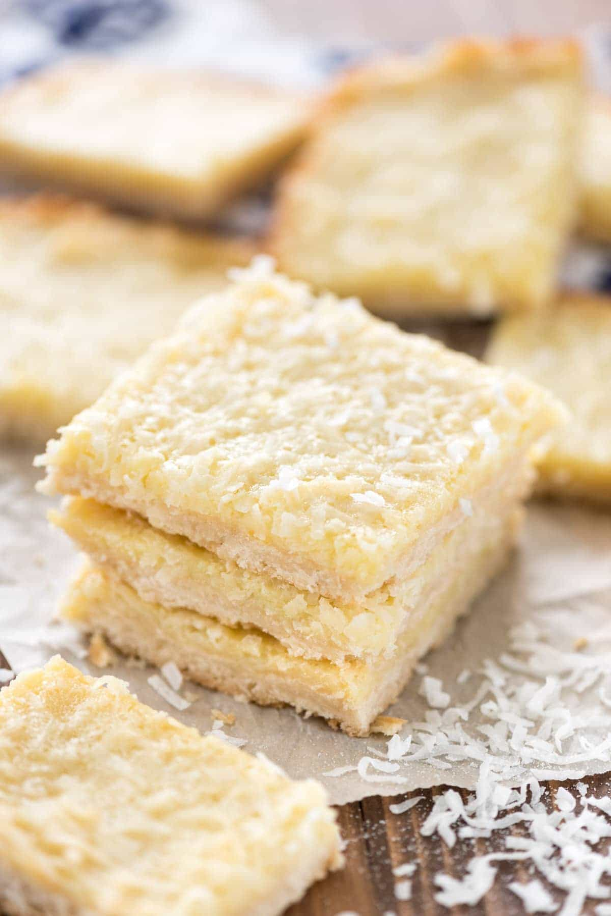 Gooey Coconut Pie Bars Recipe