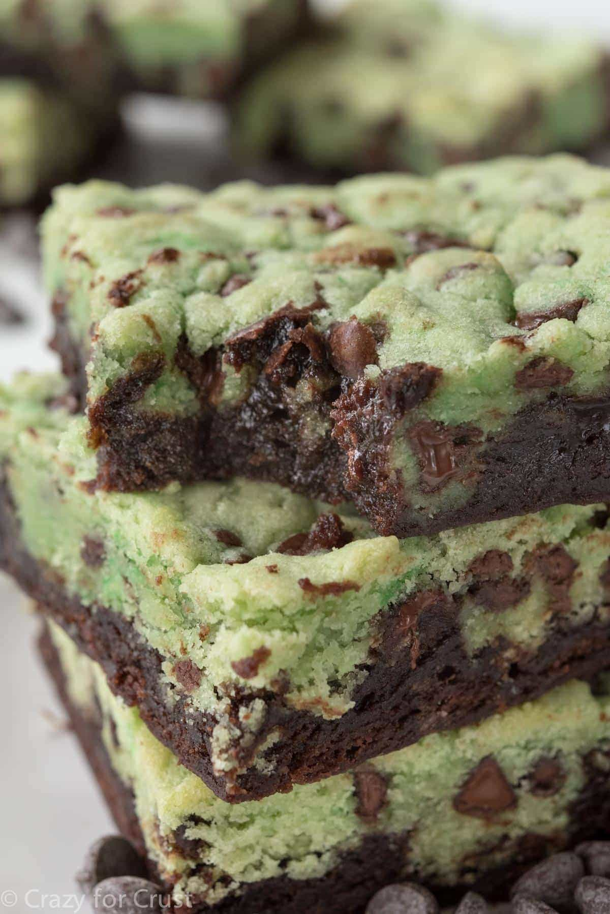 Easy Mint Chip Brookies Recipe