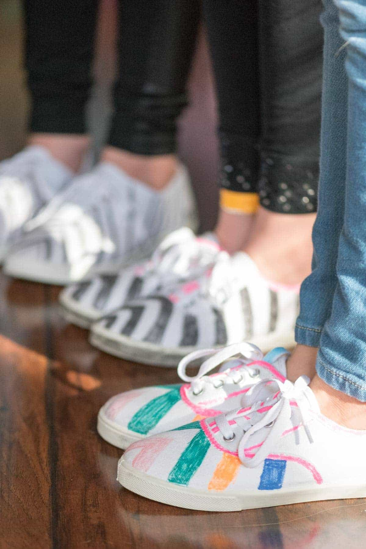 Taylor Swift Party - decorated Keds!