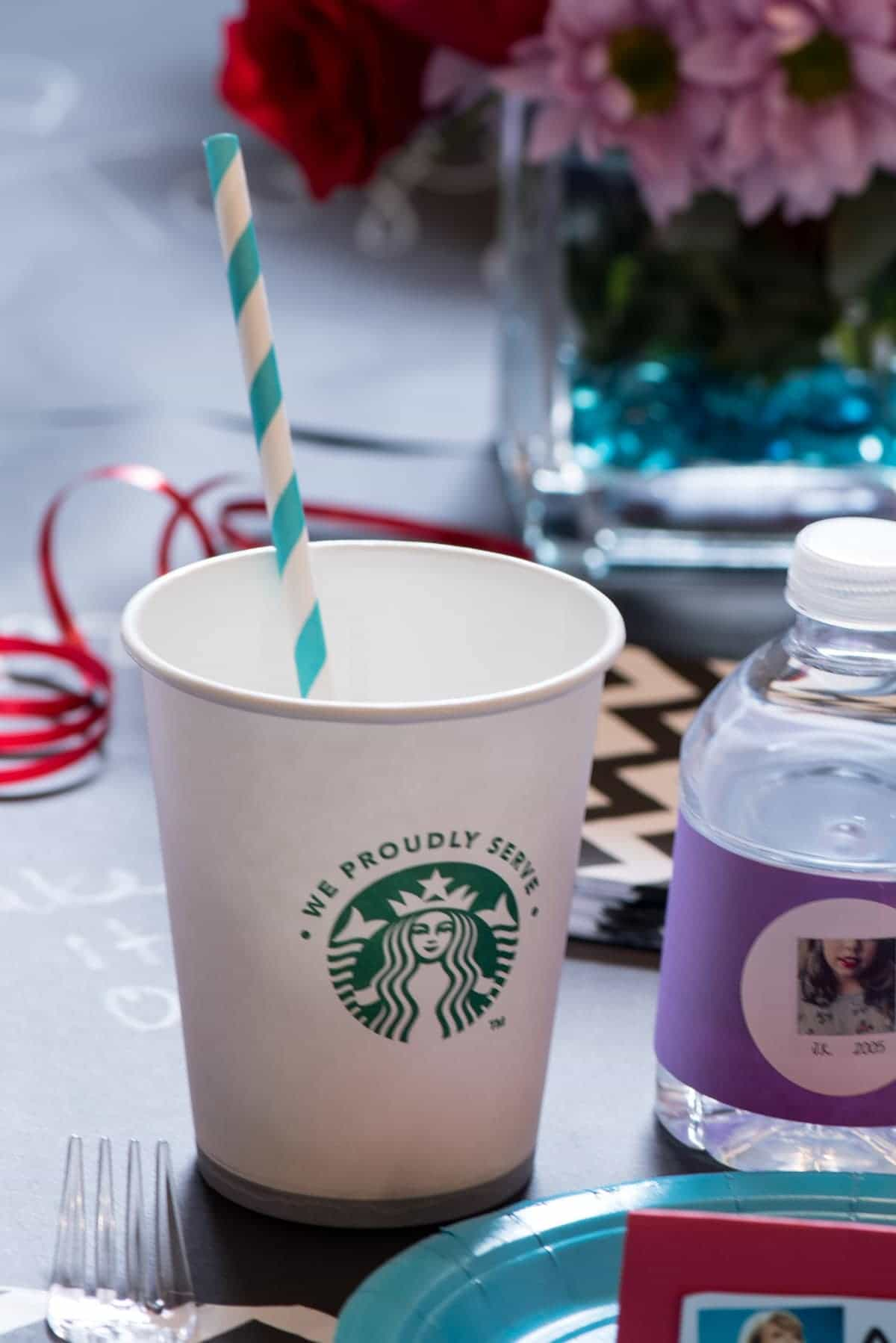 "Taylor Swift Party - Starbucks cups for ""Starbucks"" Lovers!"