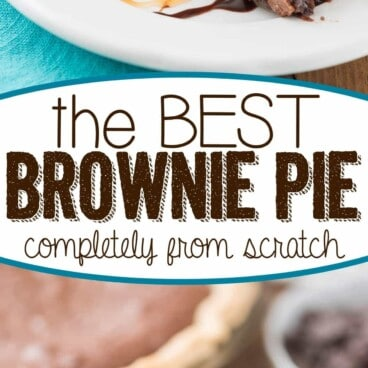 collage of brownie pie photos
