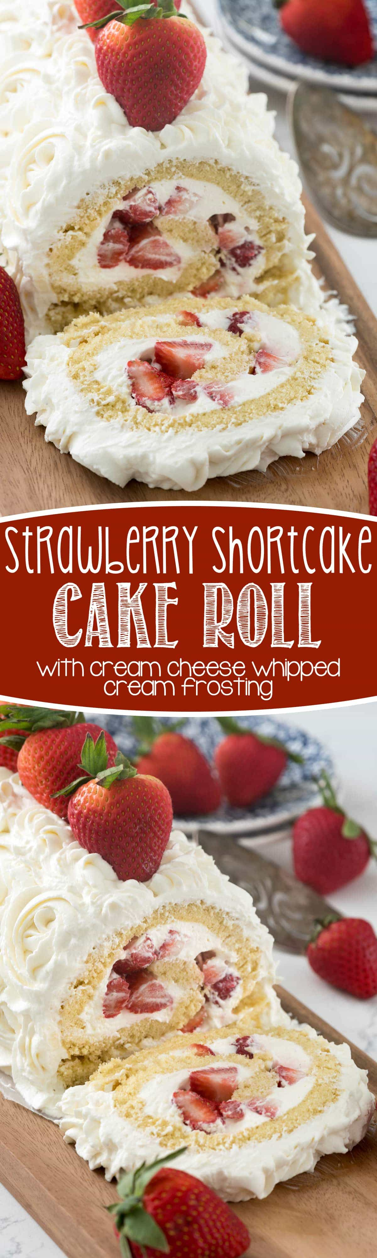 Strawberry Shortcake Cake Roll Recipe