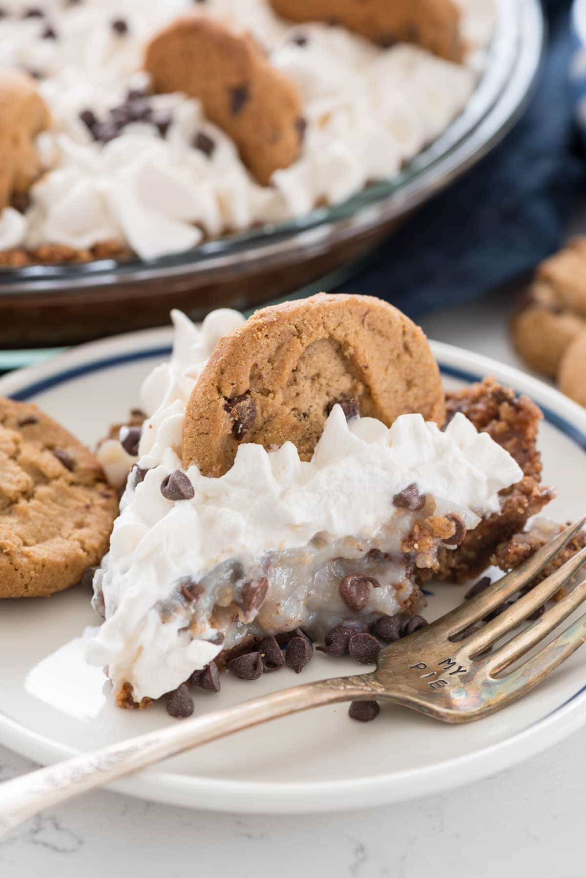 No Bake Chocolate Chip Cookie Pudding Pie (4 of 6)