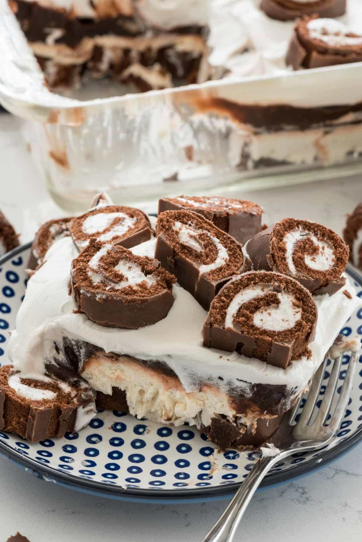 Swiss Roll Layered No Bake Dessert (4 of 7)
