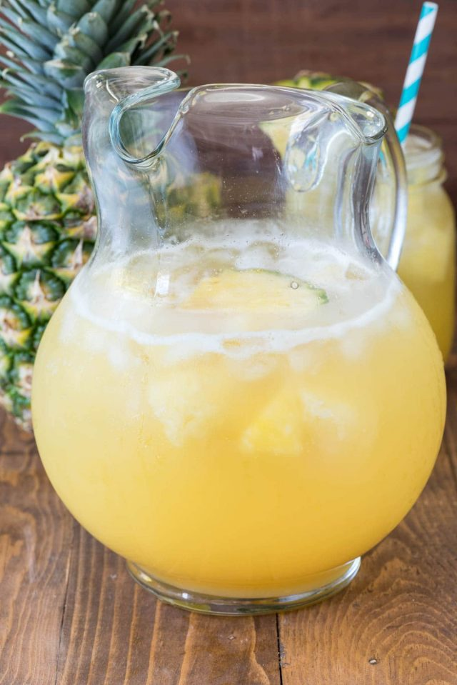pineapple party punch in pitcher