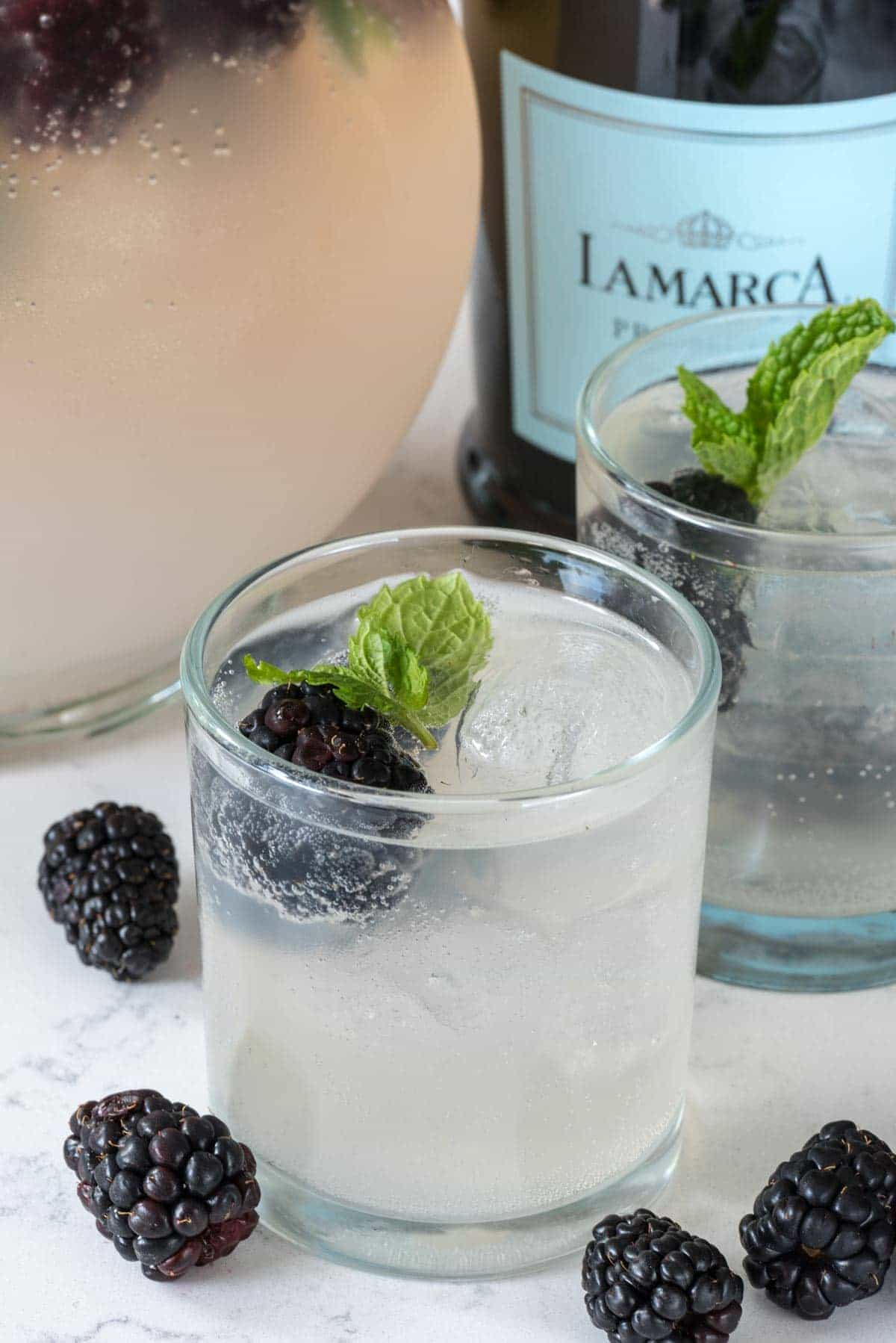 Lemonade Prosecco Punch Recipe - such a great cocktail made with LaMarca Prosecco!
