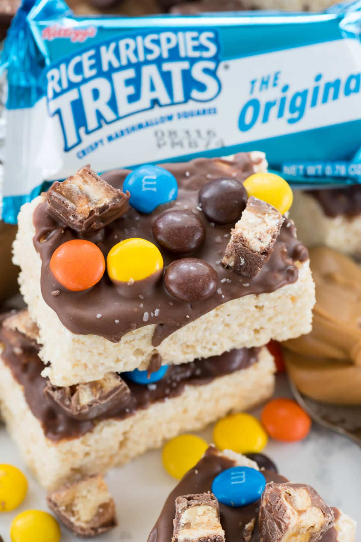 Movie Candy Rice Krispies Treats Recipe - easy, no bake, only 4 ingredients!