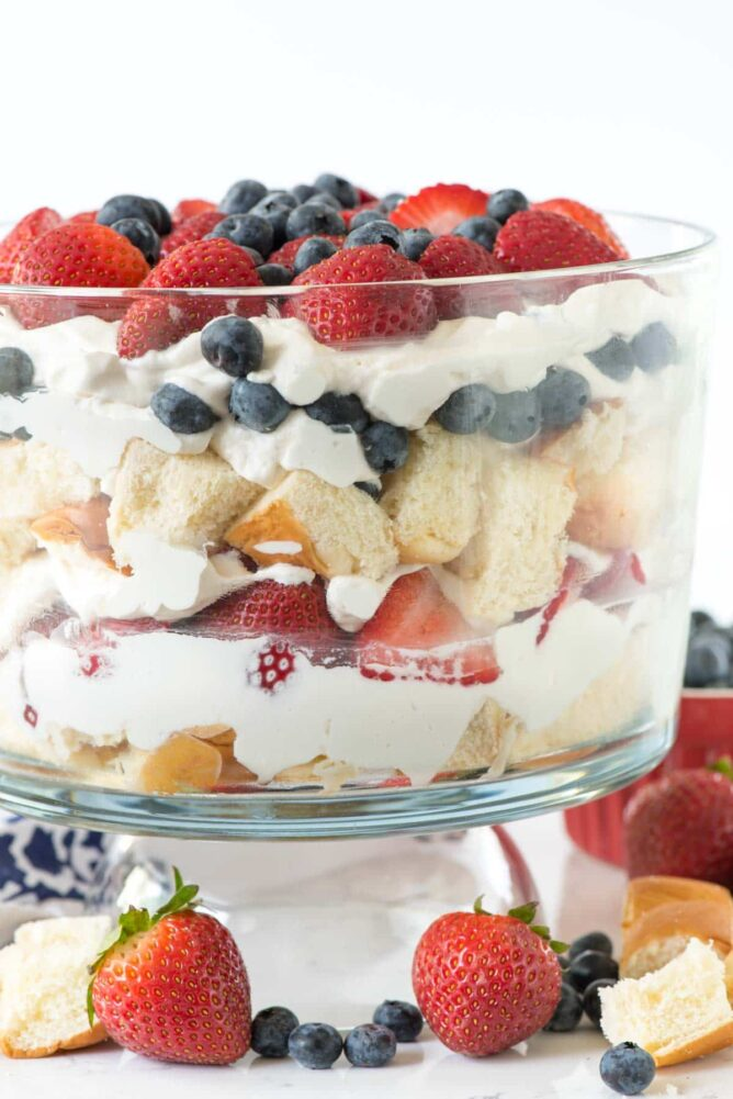 Glass Bowl of Berry Trifle