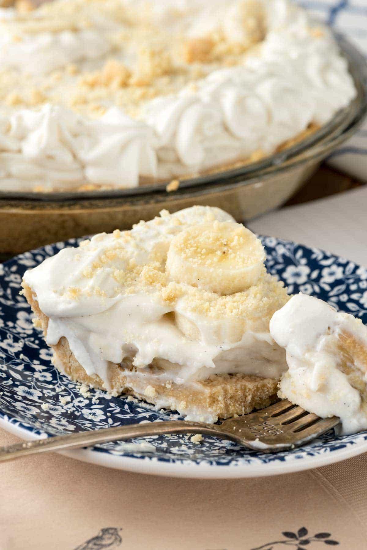 No Bake Old Fashioned Banana Pudding Pie recipe